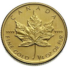 1/4 oz Maple Leaf 10 CAD